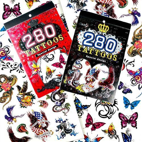 Zestaw Tatuaży Tatuaże Tymczasowe Zmywalne 280