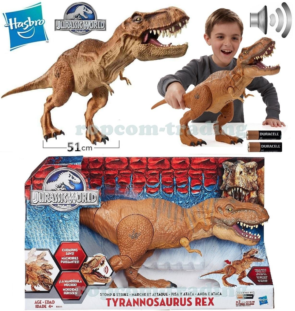 6a1b7385c8695 Duży Dinozaur TREX Jurassic World Interaktywny Dźwięk HASBRO