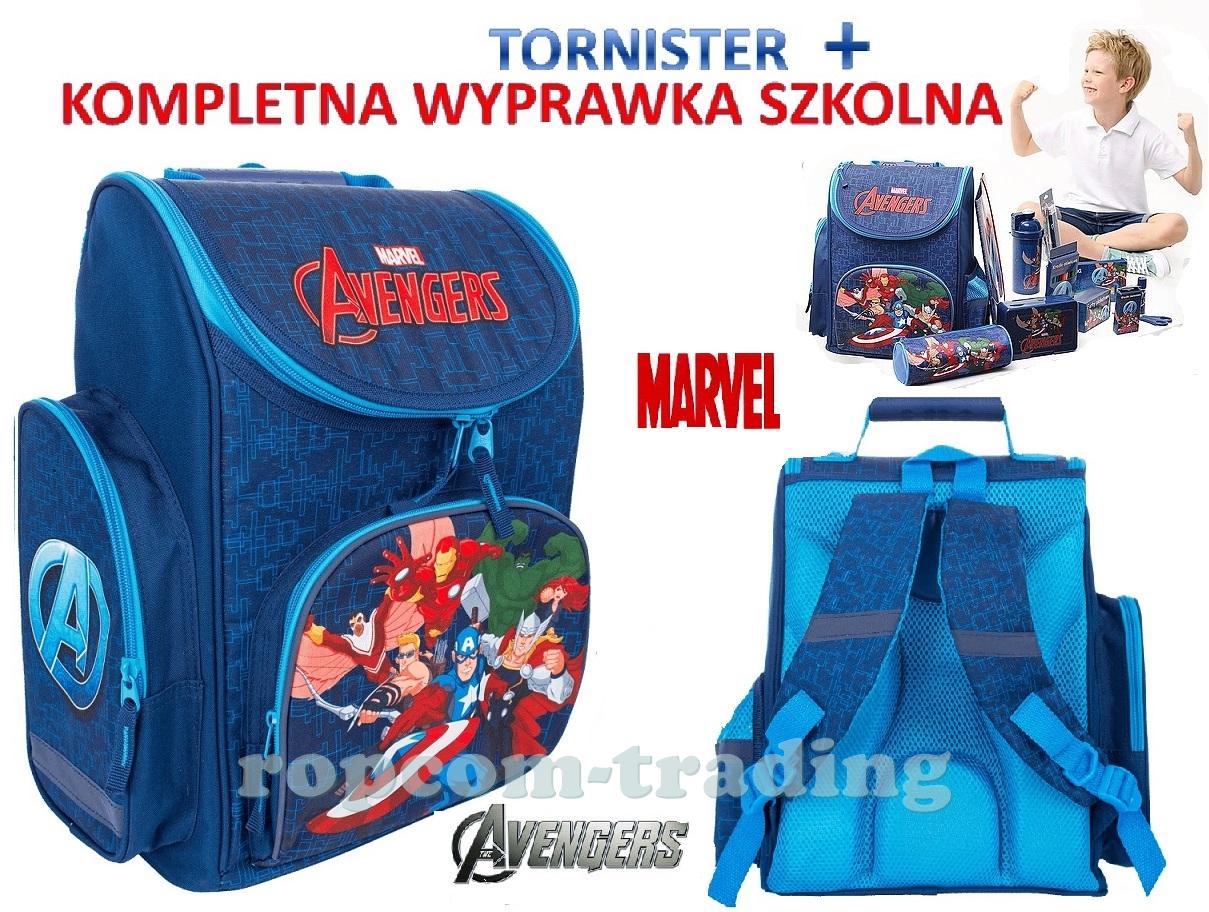 058d54fcfa254 AVENGERS Plecak Tornister Szkolny + Kompletna Wyprawka Wyposażenie Marvel