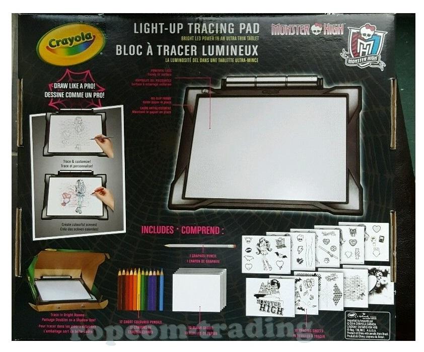 Zestaw Crayola Podświetlana Tablica Projektor Slim Monster